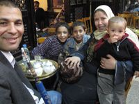 Armenian Family at hookah bar, Cairo-Ellen Perlman