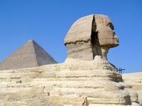 Sphinx and Pyramid, Giza