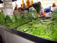 0081-Cactus leaves, Corona Market, Guadalajara-Ellen Perlman