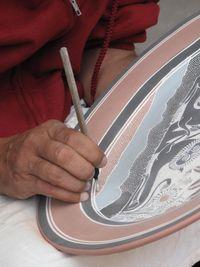 0315-Hand painted plate shop, Tonala, Mexico-Ellen Perlman