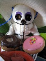 Skeleton and donuts-Ellen Perlman