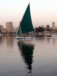 Felucca (sailboat) on Nile, Cairo, Egypt-Ellen Perlman