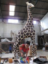 0291-Paper mache giraffe, Tonala, Mexico-Ellen Perlman