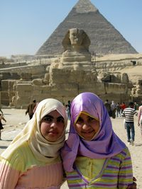 Girls at Sphinx, Cairo, Egypt, boldlygosolo blog