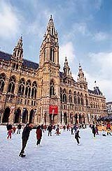 Vienna ice rink city hall square, boldlygosolo blog