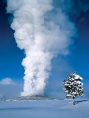 Old-faithful-geyser-in-winter, Yellowstone