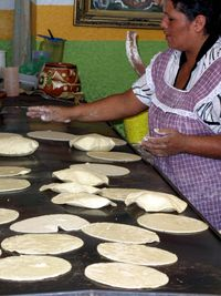 Making tortillas, Guadalajara, Mexico, boldlygosolo