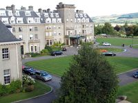 Gleneagles Hotel Scotland, view from room, boldlygosolo