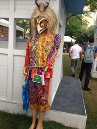 Masked model, Smithsonian Folklife Festival, Peru
